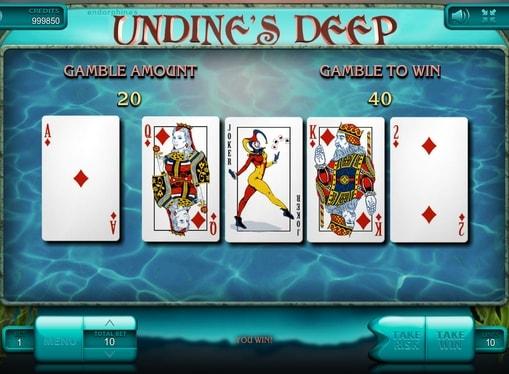 Ризик гра в апараті Undine's Deep