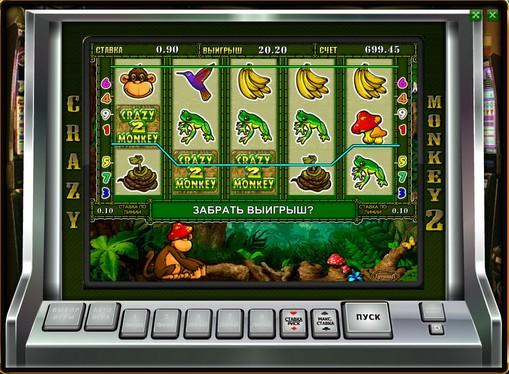 Виграшні комбінації символів в автоматі Crazy Monkey 2