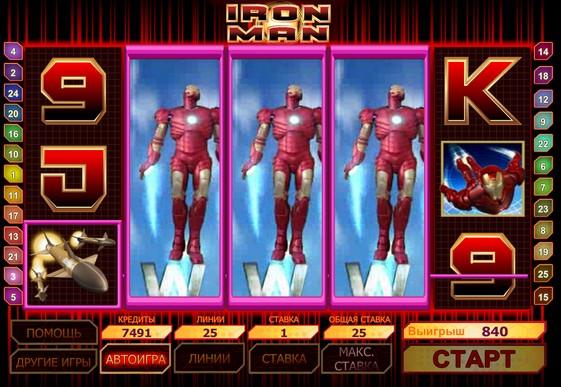 Символи ігрового автомата Iron Man