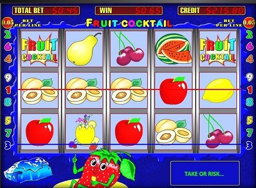 Лінії виграшів в слоті Fruit Cocktail