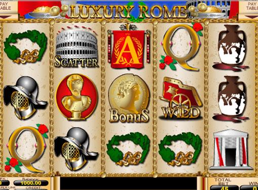 Бонуси і дикі символи ігрового апарату Luxury Rome