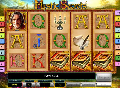 Барабани з символами в ігровому автоматі Mystic Secrets Deluxe