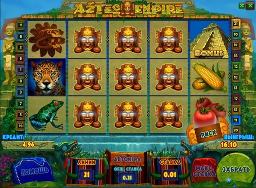 Таблиця виплат в слоті Aztec Empire