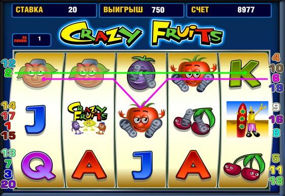 Крейзі фрукти ігрові автомати онлайн