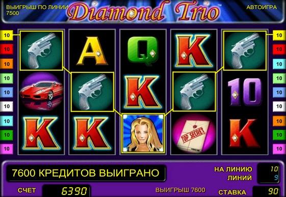 Виграшна комбінація на автоматі Diamond Trio