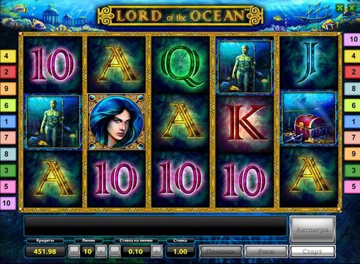 Символи ігрового апарату Lord of the Ocean