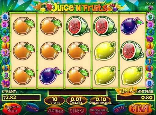Бонусна комбінація на Juice and Fruits