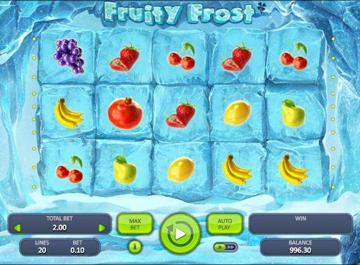 Символи ігрового автомата Fruity Frost