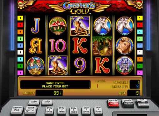 Символи ігрового автомата Gryphons Gold