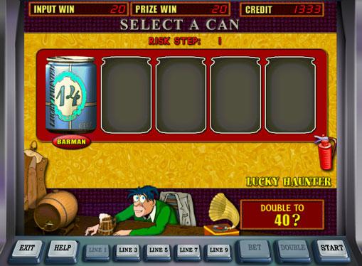 Гра на подвоєння в автоматі Lucky Haunter