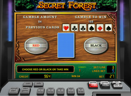 Ризик гра в онлайн автоматі Secret Forest