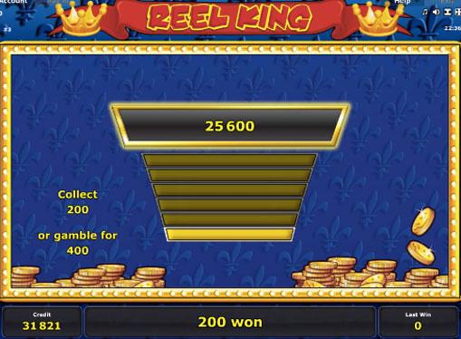 Гра на подвоєння в слота Reel King
