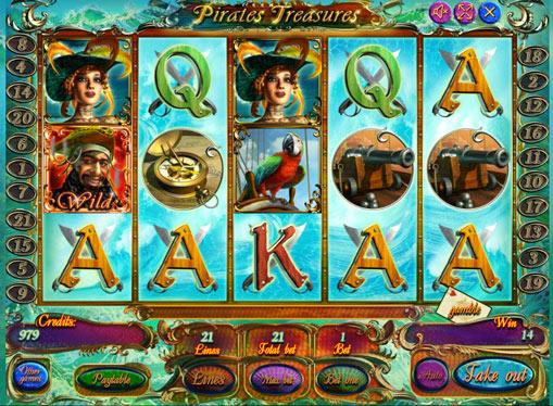 Виграшна комбінація в слоті Pirate Treasures