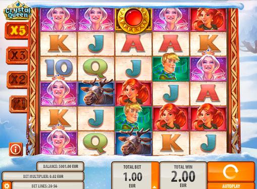 Гра на множення в автоматі Crystal Queen