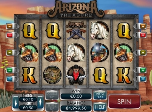 Символи ігрового автомата Arizona Treasure