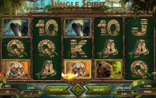 Виграшна комбінація в слоті Jungle Spirit: Call of the Wild