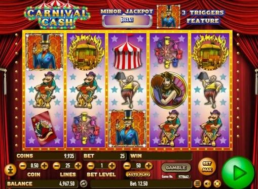 Символи онлайн автомату Carnival Cash