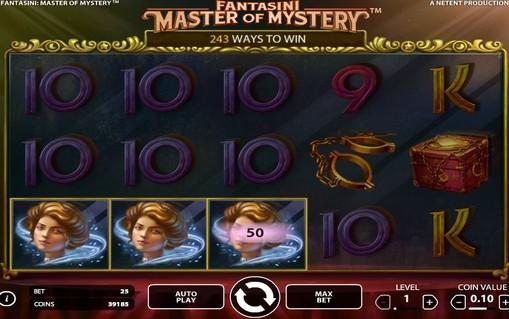 Виграшна комбінація в ігровому автоматі Fantasini: Master of Mystery