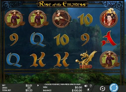 Символи ігрового апарату Rise of the Empress