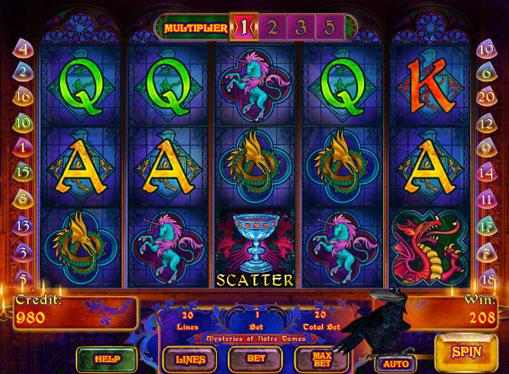 Символи ігрового онлайн автомата Mysteries of Notre Dames