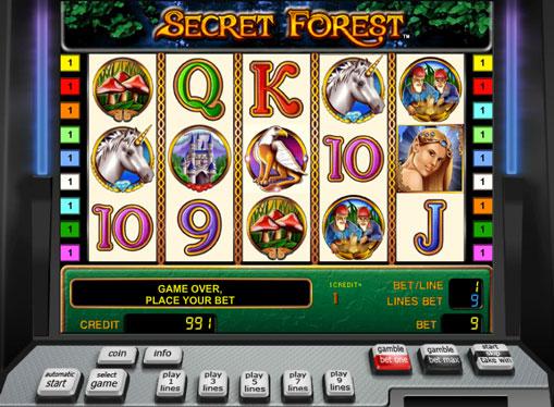 Символи ігрового автомата Secret Forest