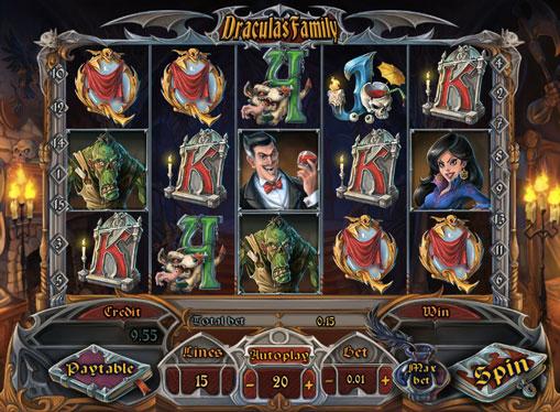 Символи ігрового автомата Dracula`s Family