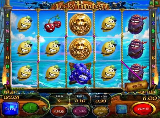 Комбінація символів в автоматі Lucky Pirates