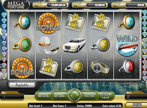 Символи ігрового автомата Mega Fortune
