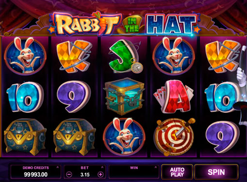 Символи ігрового автомата Rabbit in the Hat