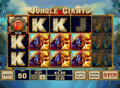 Призова комбінація на лінії в ігровому автоматі Jungle Giants