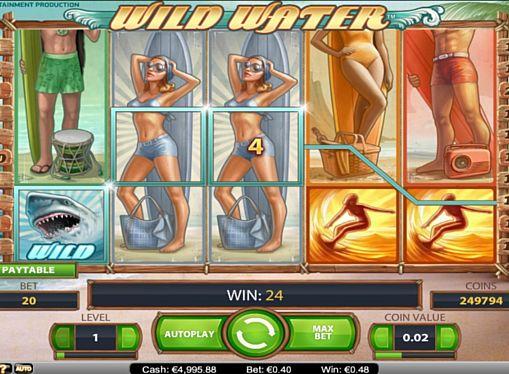 Призова комбінація на лінії в ігровому автоматі Wild Water
