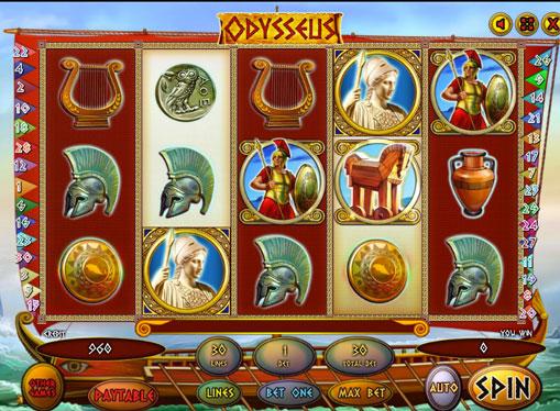 Символи ігрового автомата Odysseus
