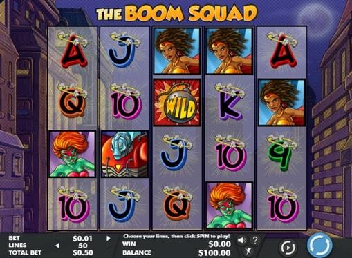 Виграшна комбінація онлайн апарату The Boom Squad