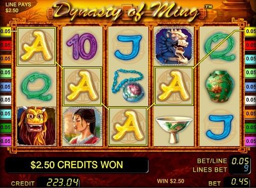 Виграшна комбінація на ігровому онлайн автоматі Dynasty of Ming