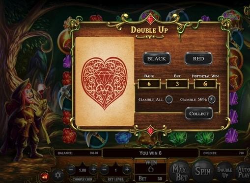 Ризик гра в онлайн слоті Giovannis Gems