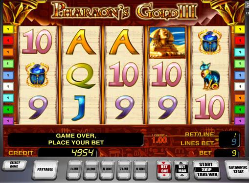 Символи ігрового автомата Pharaoh's Gold III