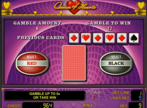 Ризик гра в автоматі Queen of Hearts
