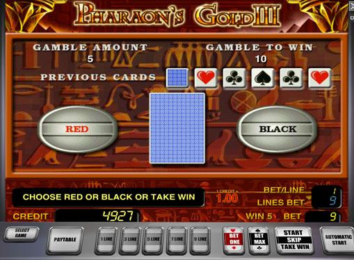 Ризик гра на автоматі Pharaoh's Gold III