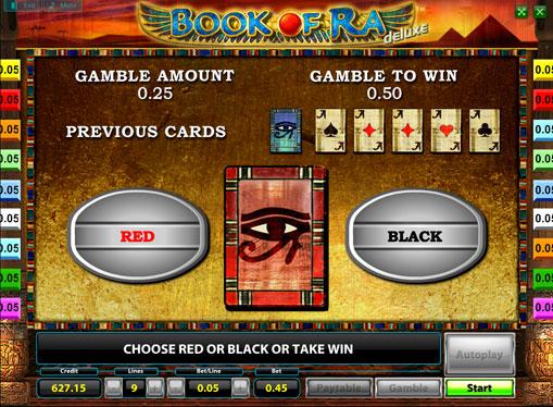 Ризик гра на апараті Book of Ra deluxe