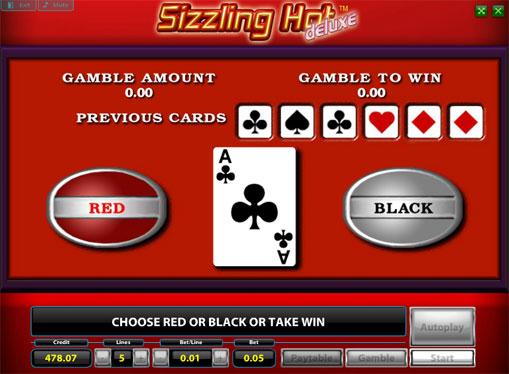 Ризик гра в Sizzling Hot Deluxe
