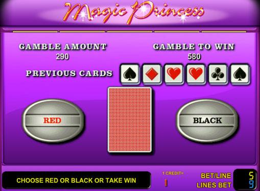 Ризик-режим апарату Magic Princess на гроші