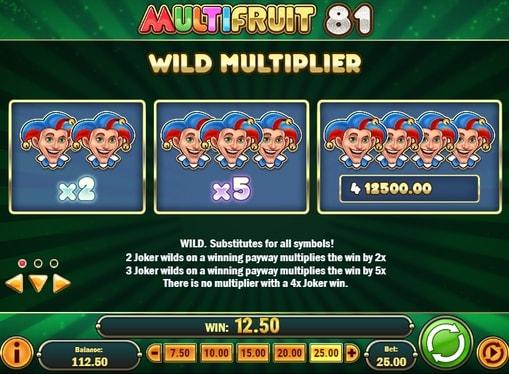 Опис символу Wild в слоті Multifruit 81
