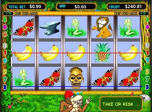 Виграшні лінії на автоматі Crazy Monkey