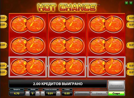 Випадання бонусу Гарячий шансHot Chance
