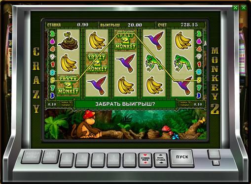 Випадання бонусної гри в слоті Crazy Monkey 2